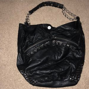 Converse Faux leather hobo bag with stud details